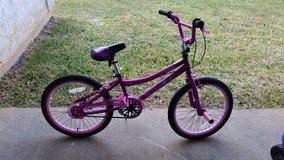 Pink BMX style bike in Fort Polk, Louisiana