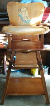 Vintage Wooden High Chair in Plainfield, Illinois