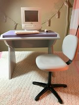 American Girl doll desk and working computer in Aurora, Illinois