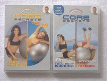 2 Gunnar Peterson's CORE SECRETS Workout DVD's in 29 Palms, California