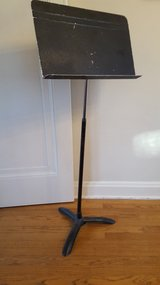 Vintage Sheet Music Stand from Wheaton Central High School in Schaumburg, Illinois