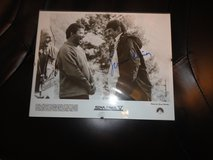 lenord nimoy autographed black and white photo 1989 star trek V  with william shatner in Fort Campbell, Kentucky