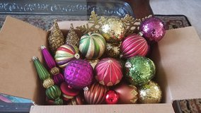 Christmas ornaments box in Chicago, Illinois