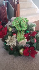 Christmas wreath in Aurora, Illinois