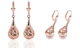 ***BRAND NEW***Rose Gold Antique Design Drop Earrings*** in Cleveland, Texas