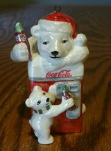 2004 Coca-Cola Pearlescent Porcelain Polar Bear Ornament in Fort Benning, Georgia