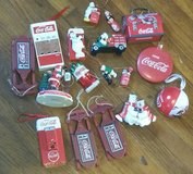 Lot of 17 Collectible Coca-Cola Ornaments in Fort Benning, Georgia