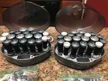 2 Sets REMINGTON SOLUTIONS Ionic Wax Core Hot Rollers Velvet Curlers #KF-20i With Clips and 2 Us... in Aurora, Illinois
