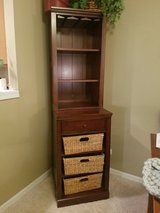2 piece Solid wood wine glass cabinet in Naperville, Illinois