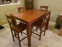 Solid Wood Kitchen table & 8 wood chairs in Naperville, Illinois