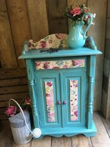 Cupboard Dresser Upcycled Vintage Painted Annie Sloan Provence with Decoupage Shabby Chic Furniture in Lakenheath, UK