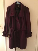 Purple Wool Blend Belted Coat 1X in Chicago, Illinois