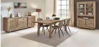United Furniture - Retro Dining set with China + Table 160 + 4 Chairs + delivery in Spangdahlem, Germany
