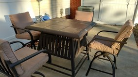Tile Top Patio Table With Chairs in Camp Lejeune, North Carolina