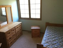 4Pc. Solid Wood Bunk Bed Set- Twin over Full sized Bed, Dresser W/Mirror & Nightstand (incl. ful... in Aurora, Illinois