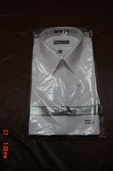 Mens White Wentworth Dress Shirt Still in Store wrap in Lockport, Illinois