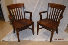 Hardwood Office Chairs (2) in Glendale Heights, Illinois