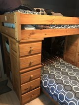 ALL Wood bunkbeds w drawers and shelves! in Conroe, Texas