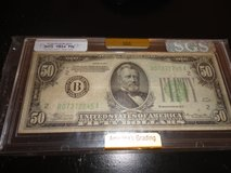 1934 fn  us grant fifty dollar bill in Fort Campbell, Kentucky
