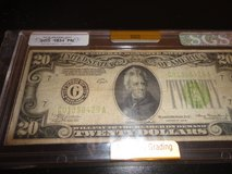 1934 fn $20 bill  chicago in Fort Campbell, Kentucky