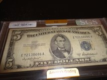 1953a $5 bill graded by sgs fn in Fort Campbell, Kentucky