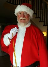 Santa Claus comes to Old Towne in Rolla, Missouri