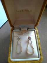 Gold and diamond earrings in Fort Rucker, Alabama