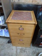 Wooden two drawer file cabinet in Fort Campbell, Kentucky