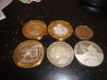 9 silver coins/rounds/tokens in Fort Campbell, Kentucky