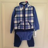 *New* Boys 18m 3-Piece Blue Flannel Vest Outfit in Bolingbrook, Illinois