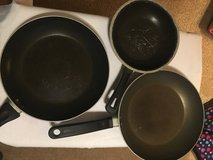 3 Nonstick Skillets (Used) in Clarksville, Tennessee