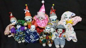 Clown dolls in Cherry Point, North Carolina