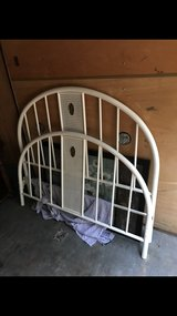 Antique Full size bed frame with bed rails (rails not pictured) in Cleveland, Texas
