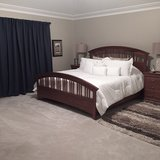 king Bedroom Set Cherry 7 pieces in Naperville, Illinois