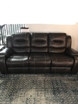 Faux Leather Reclining Sofa & Loveseat in Fort Bragg, North Carolina