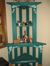 NICE!  Tall Wooden Hand-Painted Shelf in Glendale Heights, Illinois