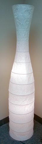 Floor lamp paper white relaxing set of 2 in Oswego, Illinois