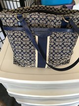 Blue coach purse in Fort Irwin, California
