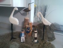 Lot of Nautical Decor Items - Net Birds Pile Lighthouse Seaman in Glendale Heights, Illinois