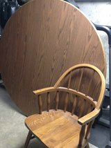 60 inch round oak table & 6 chairs in Naperville, Illinois