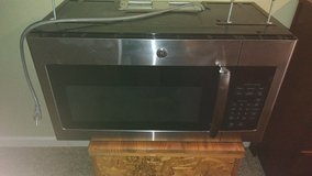 over the range GE microwave oven (used 2 years) stainless steel in Naperville, Illinois