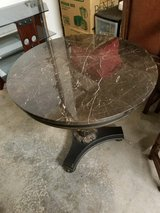 REDUCED! Round Marble Top Decorative Table in Silverdale, Washington