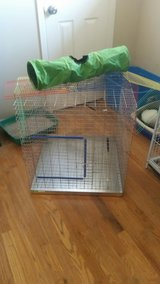hardly used pet cage and items in Fort Carson, Colorado