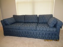 Beautiful Quality Blue Sofa in VGC No Holes, Tears, or Stains, Cushions are Firm in Naperville, Illinois