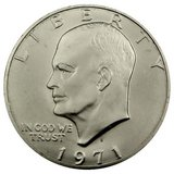 1971 San Francisco Minted Eisenhower Dollar in Cherry Point, North Carolina