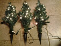 "(8) 27"" Prelit Artificial Christmas Pathway Trees (price each) in Eglin AFB, Florida"