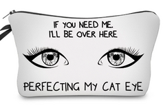 Cute Cat Eye Cosmetic Bag in Fort Campbell, Kentucky