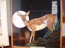"Stained Glass ""Mule Deer at Sunset"" in Camp Lejeune, North Carolina"