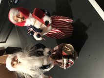Byers Choice Patriotic Santa and Mrs. Claus Carolers in Naperville, Illinois