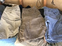Men cargo shorts in Fort Irwin, California